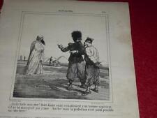 CHAM / LITOGRAFÍA ORIGINAL CHARIVARI 1865 / NOTICIAS 330 ABD EL-KADER