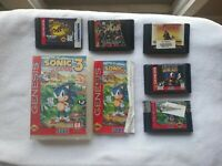 Sonic The Hedgehog and Other Genesis Games Lot of 5 Tested