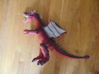 """Toys R Us MaidenHead Red Winged Dragon Rubber Large Action Figure Toy 18"""""""