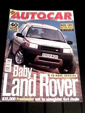 AUTOCAR MAGAZINE 03-SEP-97 - BMW Z3 2.8, Porsche Boxster, Land Rover Freelander
