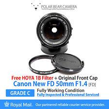 ⭐SERVICED⭐ CANON FD 50mm F1.4 Prime Full Frame + HOYA Filter + Caps [WORKING]
