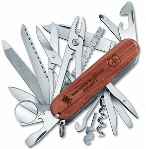 Victorinox Swiss Army Swiss Champ Wood With Wounded Warrior Project 55076.US2