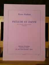 Pierre Paubon Prélude et danse pour fl��te et percussion éditions Leduc