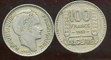 ALGERIE  ALGERIA  100 francs  1952     ( etat )