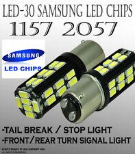 x2 Samsung LED 30W SMDs [White] Replace Car Sylvania Brake Tail Light Bulbs O103
