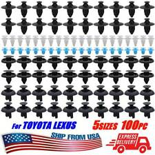 100X For Toyota Lexus Fasteners Trim Panel Clips Bumper Fender Push Pin Rivets (Fits: Toyota)