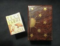 New! Universal Waite TINY TAROT DECK & WOOD CARVED BOX Bundle - Great Gift Item!