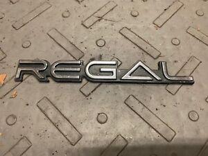 1984-1987 Buick REGAL T-Type Grand National GNX QUARTER PANEL EMBLEM Badge GM