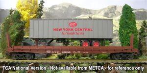 2015 METCA Weaver 499061 black NYC flatcar w NYC trailer new in the box