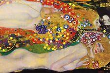 Gustav Klimt - Wasserschlangen Erotik Poster Plakat (120x80cm) #118777