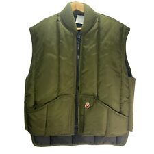 Refrigiwear Puffer Puffy Vest Men LG Outdoor Work Extreme Cold Insulated Green