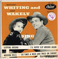 """MARGARET WHITING & JIMMY WAKELY sing U.S. E.P. rare 1950's  """"slipping around"""""""