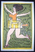 SWAPPING HOUSES / Cuban Silkscreen Movie Poster / Cuba Art by Bachs / SE PERMUTA