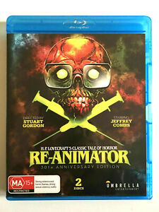 Re-Animator Bluray Horror Limited Edition Integral Cut Gordon Combs Crampton