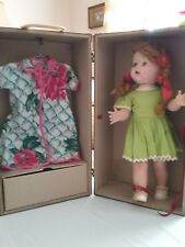 Vintage eegee's Susan Stroller walking doll with trunk and clothes 1950 s