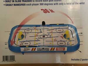 """MD Sports Rod Hockey Table Game 36"""" Lightweight Table Top -Stick Hockey"""