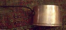 MASSIVE 3 GAL SZ SUPERB 1800's - 19th CENTURY AMERICAN COPPER IRON HANDLED POT