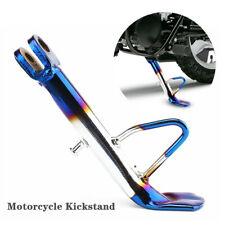 Motorcycle Scooter Kickstand Side Stand Leg Prop Foot Brace CNC Aluminum Blue