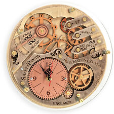 Automaton 1783 unique vintage wooden wall clock, personalized, housewarming