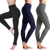 Women's Elastic High Waist Sport Leggings Slim Tummy Control Compression Pants W