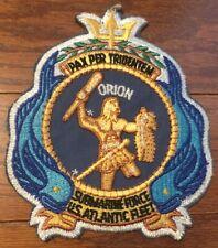 Vietnam Era USN Navy Submarine Force U.S. Atlantic Fleet Orion Vintage 6 Inch