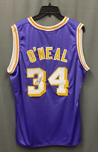 Shaquille O'Neal #34 Signed Lakers Jersey Autographed Sz XL JSA WITNESSED COA