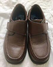 Men's Nunn Bush Slip On  84535 Moc Toe w/ Hook and Loop Strap Brown Leather 8M