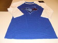 Toronto Blue Jays 3/4 Logo Raglan MLB Baseball T Shirt Top Ladies Women XS