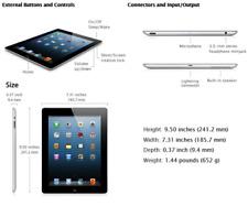 Apple iPad 4th Gen Retina Display 32GB,Wi-Fi, 9.7in Balck A Grade 12 M Warranty