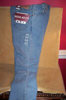 NEW LEVI'S 505 36 30 REGULAR FIT STRAIGHT LEG JEANS Light Wash New With Tags