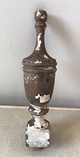 White Farmhouse Distressed Paint Decorative Finial Shabby Chic French Country