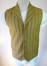 Victorian Mustard Yellow Lapel gothic vest small xs FITTED steampunk western MOD