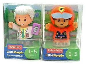 Fisher Price LITTLE PEOPLE Figures - DOCTOR NATHAN & PILOT (Lot of 2)