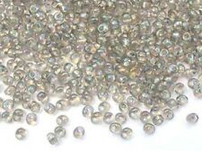 10g transparent grey AB Miyuki magatama drop beads - 4 x 5mm - 1.5mm hole [2156]