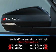 Audi Sport Premium Decals Stickers 10 year Vinyl Any Colour Universal Wheels