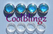 TURQUOISE Rhinestone Screw Covers for Crystal Diamond Bling License Plate Frame