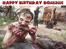 ZOMBIE Edible Icing Sheet Image Birthday CAKE Topper FREE SHIPPING Walking Dead