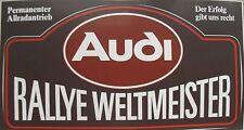 Audi UR-QUATTRO Motorsport AUFKLEBER STICKER Decal RALLYE WELTMEISTER 1982 Röhrl