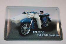 MZ S 250 avec Side-car DDR Panneau métallique 20x30 cm Bouclier