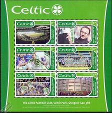 CELTIC Football Club Stamp Sheet (Henrik Larsson / Celtic Park / Martin O'Neill)