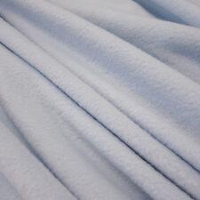 Stoff Meterware Fleece antipilling weich knitterfrei hellblau himmelblau