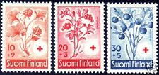 Cloudberry Blueberry Cowberry Finland Red Cross MNH1958
