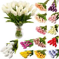 Artificial Tulip Flowers False Fake Bouquet Real Touch Home Wedding Party De Hu