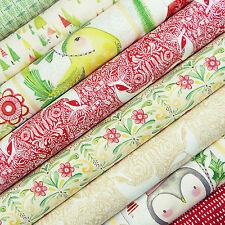 I Love Christmas Fabric Pack / quilting stocking reindeer bird snowman tree