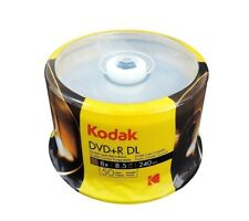 50 Kodak 8X Blank DVD+R DL Dual Double Layer 8.5 GB Media Disc