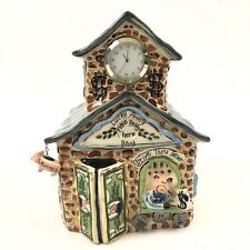Clayworks By Blue Sky Collectable Coin Piggy Bank 2004 With Working Clock