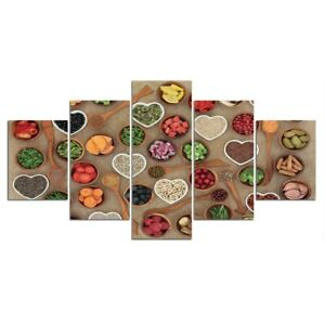 Ingredient and Food Kitchen 5 Piece Canvas Print Wall Art Home Decor Cuadros