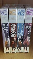 Winsor Pilates 4 Vhs Tape Set - Basics, 20 Minute, Abs and Accelerated