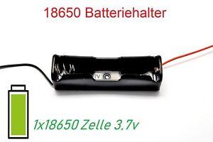 18650 Batteriehalter Gehäuse für Lithium Zellen Akkus mit Kabel Arduino DIY