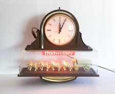 Vintage Budweiser Hanging World Champion Clydesdale Light and Clock WORKS!